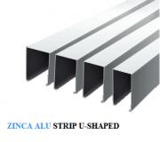 trần nhôm zinca alu strip u-shaped