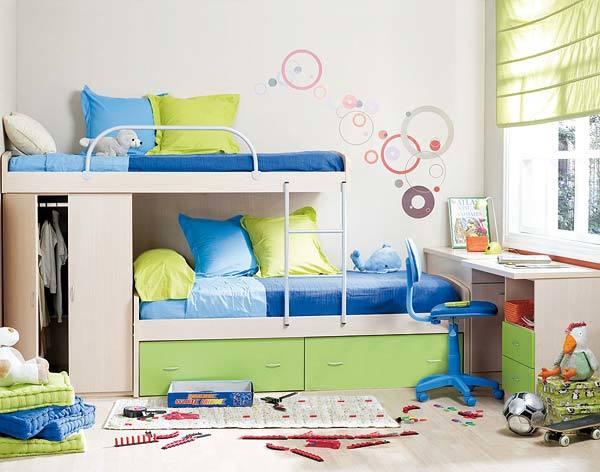 Giường tầng là ý tưởng không tồi khi diện tích phòng bị hạn chế